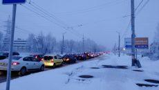 Авария создала огромную пробку на Краснинском шоссе в Смоленске