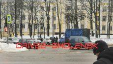 Двойная авария в Смоленске застопорила движение в Заднепровье