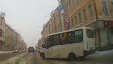 Езду «вслепую» водителя маршрутки в Смоленске сняли на видео