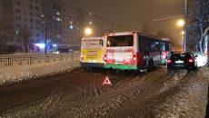 В Смоленске столкнулись автобус и маршрутка. Киселевка стала в пробке