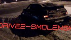 На окружной дороге под Смоленском Lada 112 вылетела в кювет