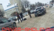 На проспекте Гагарина в Смоленске иномарка сбила пешехода