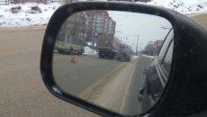 На улице Кирова в Смоленске столкнулись кроссовер «Ауди» и грузовик «Магнита»