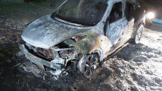 На парковке возле дома в Смоленске сгорел мини-кроссовер Nissan Juke