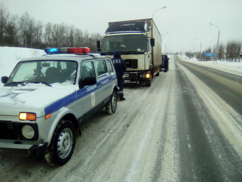 Под Смоленском СОБР и полиция устроили погоню за грузовиком с санкционкой_1 (фото Смоленской таможни)