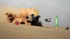 Страшную аварию багги смолянина Сергея Куприянова на гонках в Африке сняли на видео