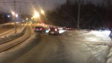В Смоленске авария перекрыла дорогу на дамбе