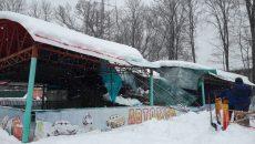 В Смоленске обрушилась крыша автодрома в «Лопатинском саду»