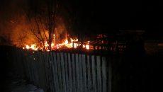 Под Смоленском в пожаре пострадал человек