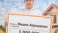 Житель Смоленска выиграл в лотерею миллион рублей