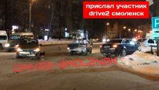 Машины разбиты в результате жесткого воскресного ДТП в Смоленске