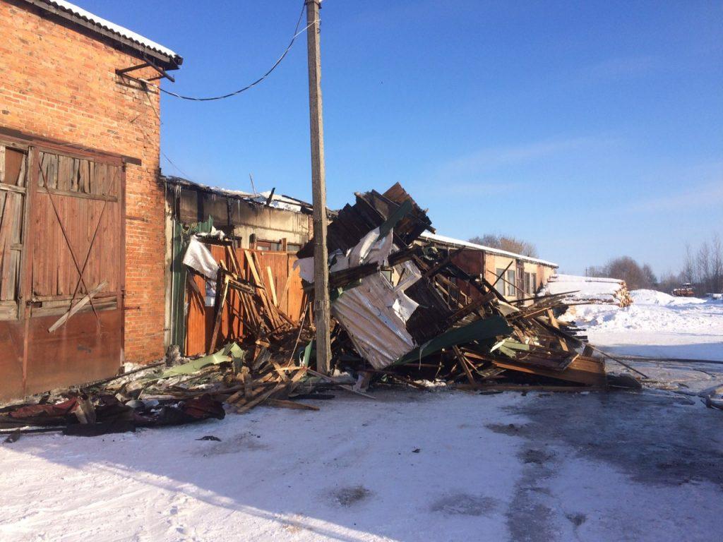 пожар 22.01.2019 на пилораме в Починке_2 (фото 67.mchs.gov.ru)