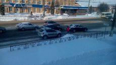 В Смоленске массовое ДТП остановило троллейбусы на улице Шевченко
