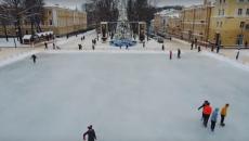 Новогодний Смоленск сняли на видео с высоты птичьего полета