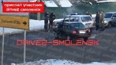 В Смоленске произошла авария с участием машины МВД