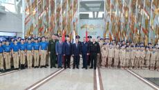 28 российских школьников посвятили в Юнармейцы