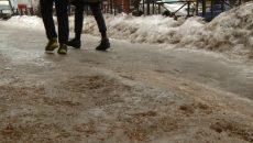 Почти 50 человек в Смоленске ежедневно ломают конечности на ледяных дорогах