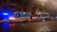 Утро 1 февраля в Смоленске началось с аварий и пробок