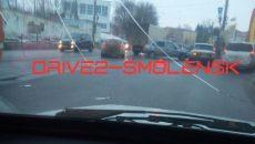 ДТП на улице Дзержинского в Смоленске ограничило движение транспорта