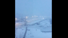 Под Смоленском февральскую грозу сняли на видео