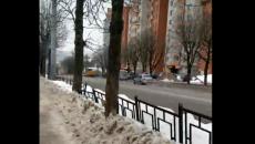 Погоню ДПС за иностранным фургоном в Смоленске сняли на видео