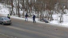В Смоленске «Лада» вылетела с Витебского шоссе в овраг