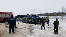 Место смертельной аварии со смолянами МВД сняло на видео
