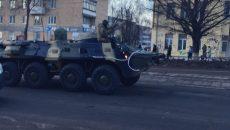 В центре Смоленска замечена военная техника