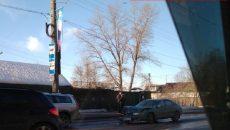 В центре Смоленска жесткое ДТП спровоцировало пробку