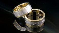 Обручальные кольца с метеоритом — это не сказка!
