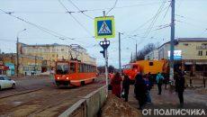 В Смоленске трамвай сошел с рельсов на Медгородке