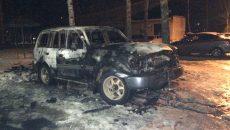 Под Смоленском сгорел внедорожник «Тойота»