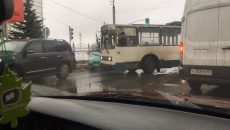 В Смоленске автохам парализовал движение транспорта на Краснинском шоссе
