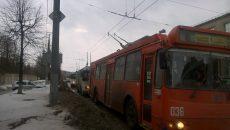 В Смоленске авария на улице Шевченко парализовала движение троллейбусов