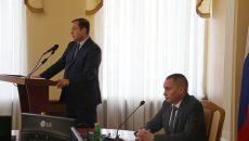 Алексей Островский поздравил Андрея Борисова со вступлением в должность главы города Смоленска