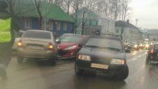 В Смоленске массовое ДТП на Витебском шоссе спровоцировало затор
