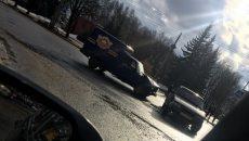 В Смоленске фургон ресторана врезался в легковую машину