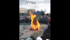 В Смоленске сжигание чучела Масленицы сняли на видео
