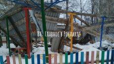 В детском саду под Смоленском рухнула крыша веранды