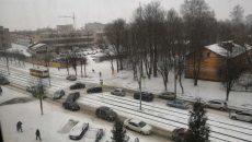 В Смоленске последствия жесткого ДТП с автобусом сняли на видео