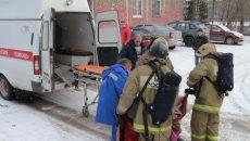 В Смоленске пожарные спасли из горящей квартиры хозяйку и ее кошку