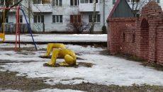 В Смоленске неизвестный обезглавил статуи львов
