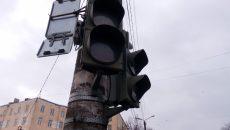 В Смоленске на пересечении двух улиц сломались светофоры