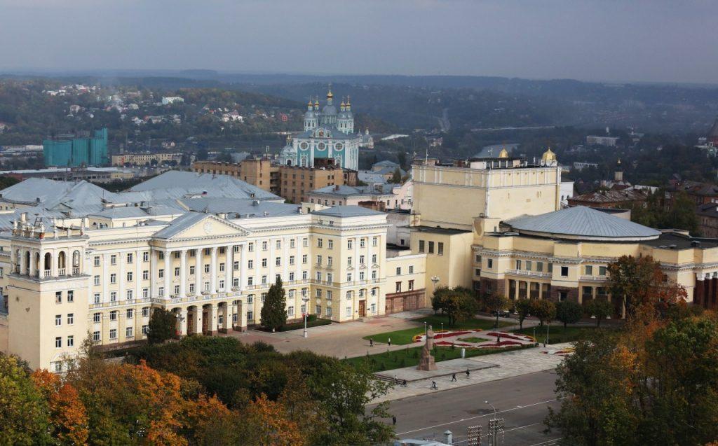 первое здание администрации Смоленской области, площадь Ленина, 1