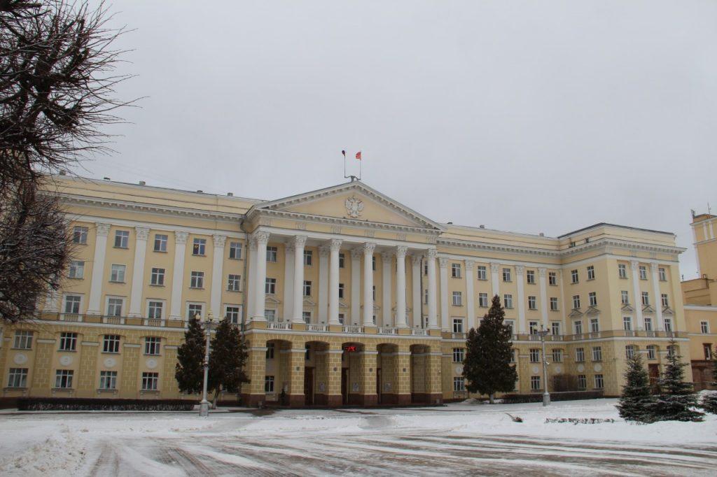 первое здание администрации Смоленской области, площадь Ленина, 1, февраль 2019 г.