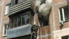 Под Смоленском горела пятиэтажка