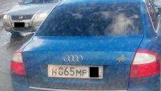 В Смоленске мужчина проучил владельца авто с нечитаемыми номерами
