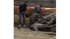 Последствия страшного ДТП под Смоленском сняли на видео