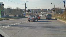 В Смоленске из-за ДТП с «Ладами» возник затор на выезде