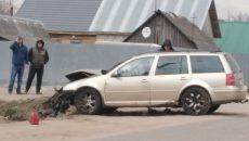 Под Смоленском иномарка вылетела в болото после столкновения с «Ладой»